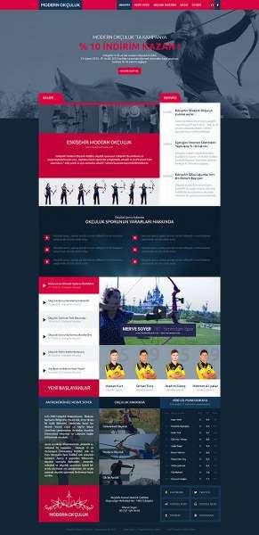 Modern Okçuluk Web Tasarım