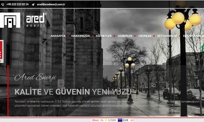 Ared Enerji Yeni Web Sitesi
