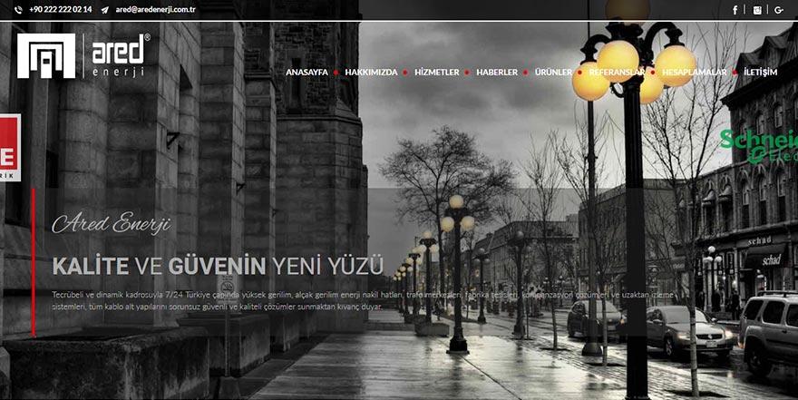 Ared Enerji Web Sitesi