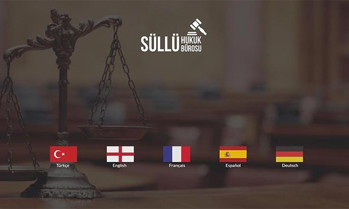 Süllü Hukuk Bürosu Web Tasarımı