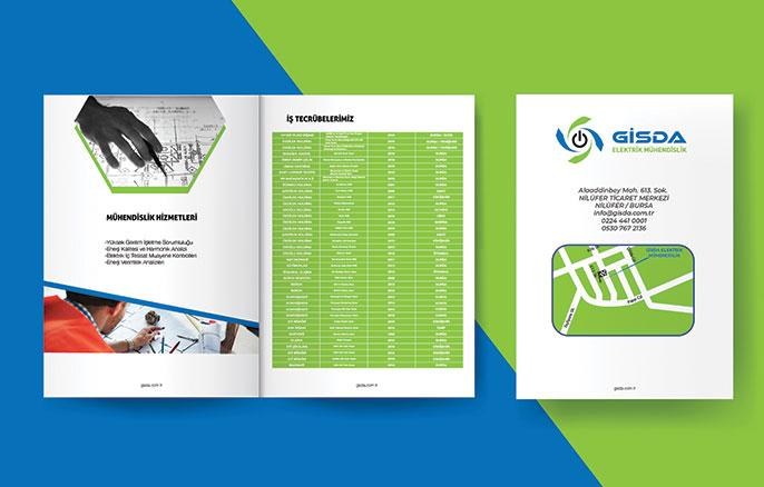 Gisda Mühendislik Katalog Tasarımı