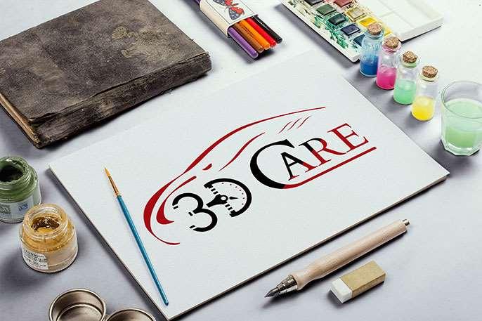 3D Car Care  Logo Tasarımı